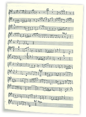 page of musical score