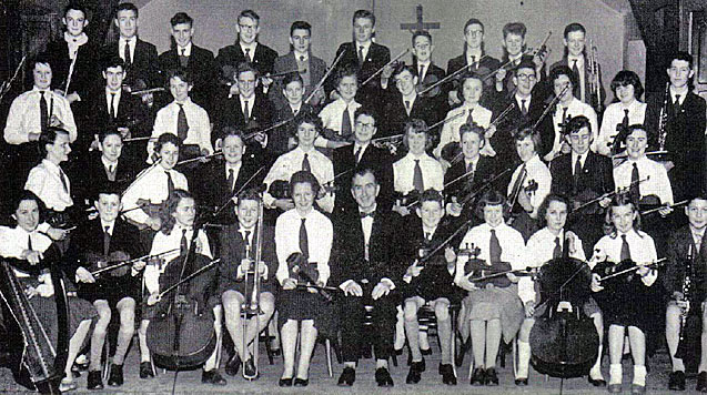 Photo of first Cork Youth Orchestra players